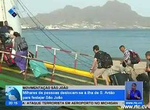 Milhares de pessoas deslocam-se á ilha de Santo Antão para festejar o São João