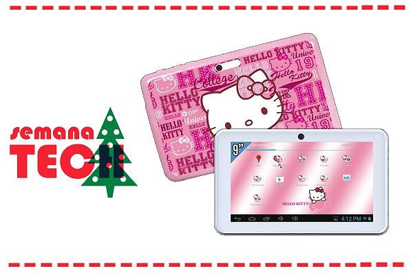 Para as meninas, escolhemos este tablet da Hello Kitty na Pixmania.