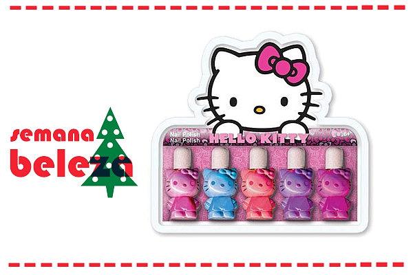 Os vernizes da Hello Kitty vão dar que falar neste Natal com as suas cores vibrantes.