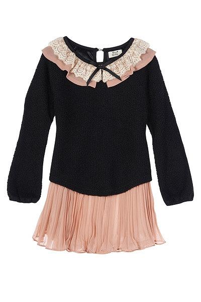 A combinação perfeita para uma menina esta noite, preto e cor-de-rosa. Vestido Molly Bracken.