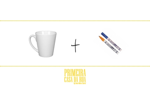 Utilize canetas para desenhar em loiça ou porcelana.