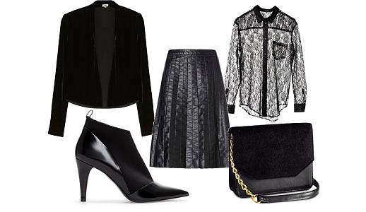 Saia Sisley, camisa Cheap Monday, casaco Hoss, sapatos  Zara e mala H&M.