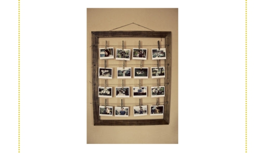 Conte a história de família com fotografias.