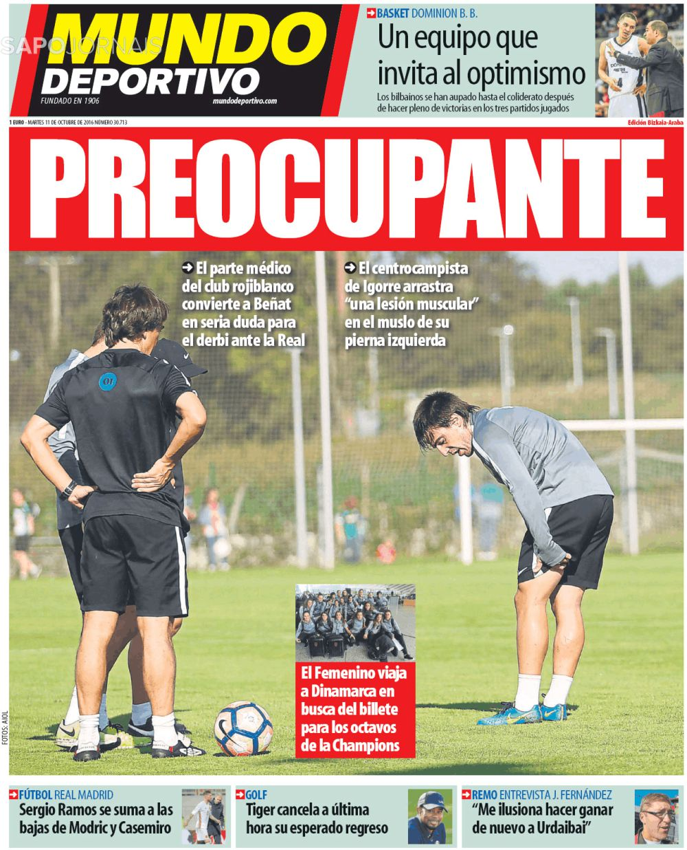 Capa do Jornal Mundo Deportivo - Athletic Club Bilbao