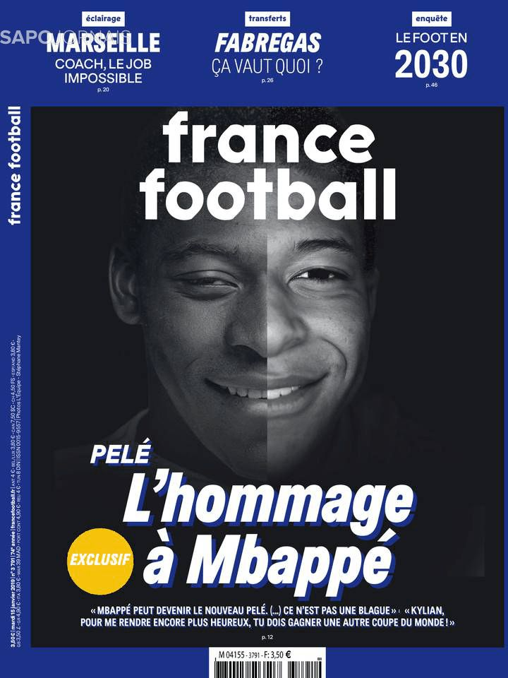 Capa do Jornal France Football