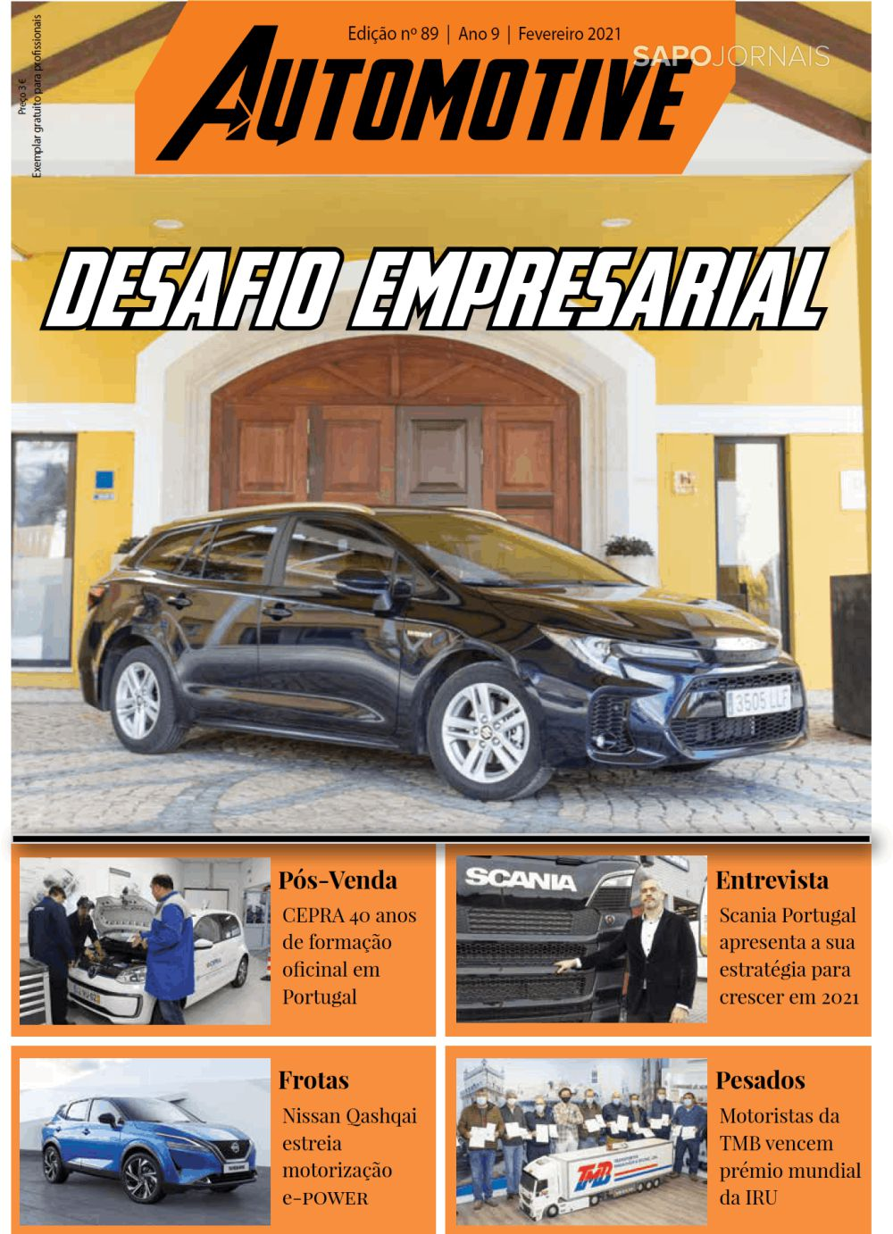 Capa da Revista Automotive