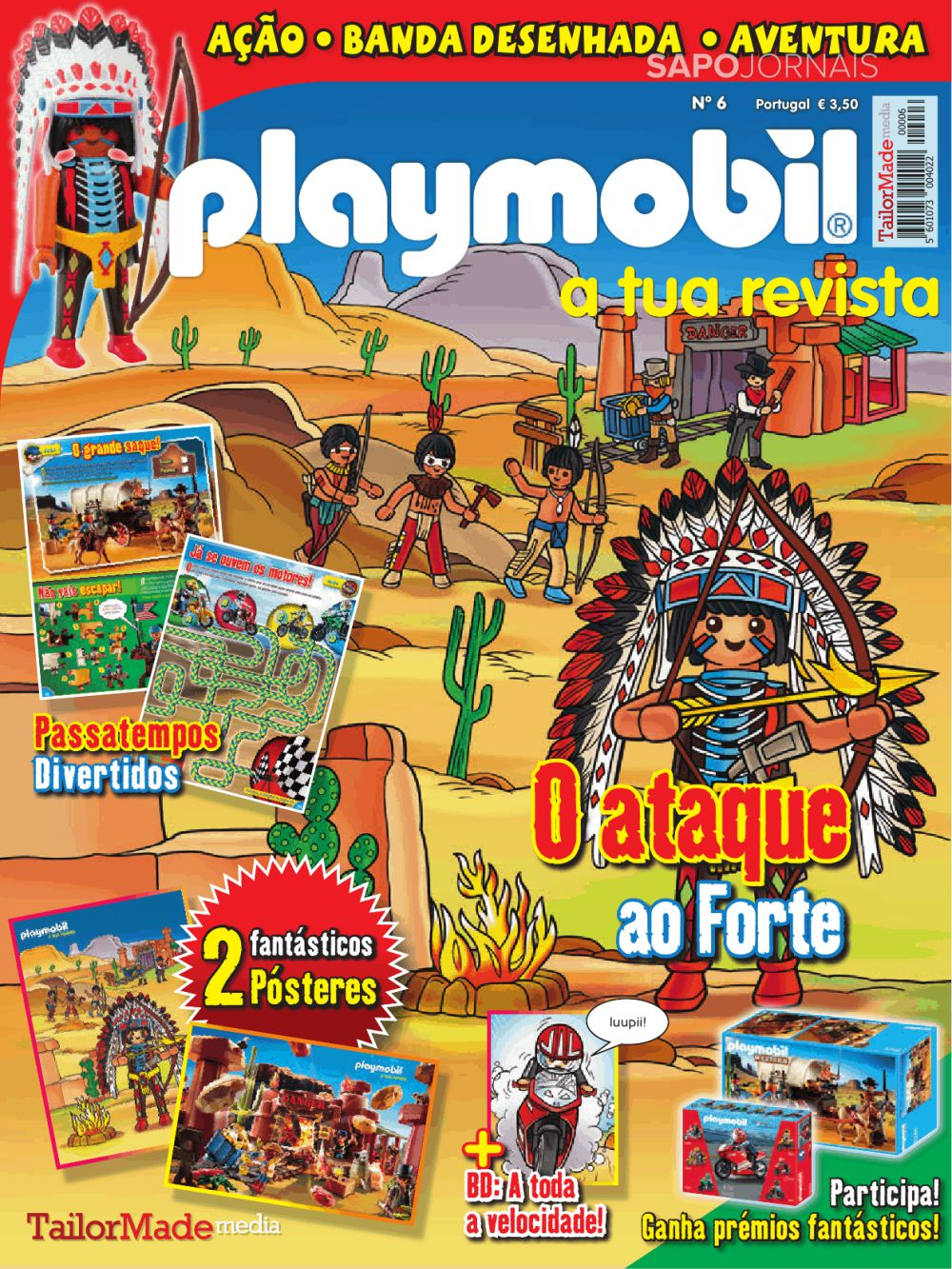 Capa da Revista Playmobil