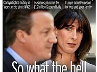 As capas dos jornais britânicos no primeiro dia após o Brexit
