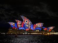 Luz, música e criatividade em Sydney