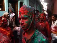 Festival das cores na índia