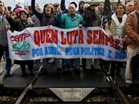 Protesto bloqueia circulação ferroviária no Entroncamento