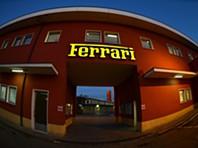 Na fábrica da Ferrari em Maranello