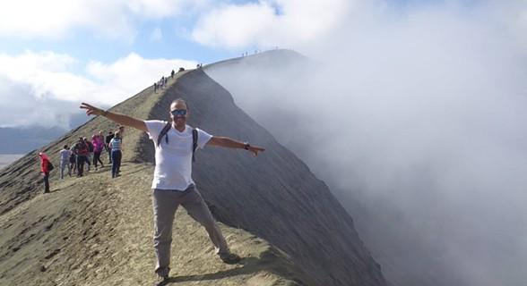 Indonésia: Bromo, um vulcão ativo