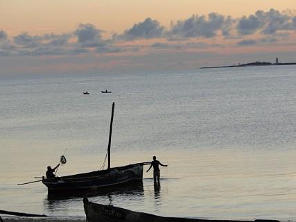 O pôr-do-sol na Ilha de Moçambique Foto Marta Curto