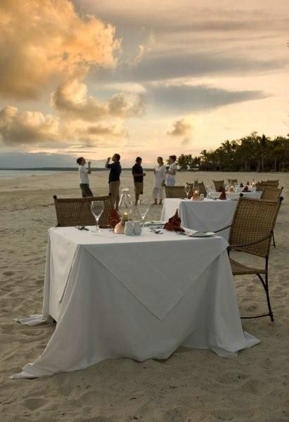 Preparing for beach dinner