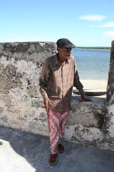 João Baptista historiador da ilha, com 82 anos