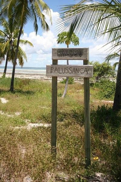Palussança, uma das cinco aldeias da ilha de Matemo