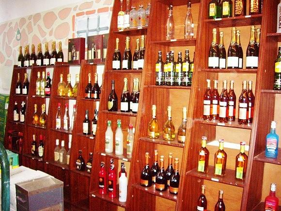 Loja de vinhos do Fogo em Santiago