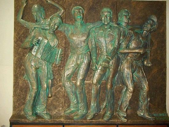 Painel de músicos no Palácio da Cultura