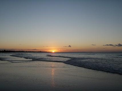 O pôr-do-sol em Inhambane. Foto LM