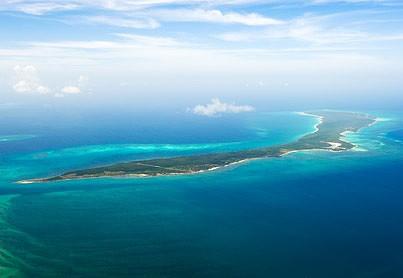 Ilha Vamizi, vista aérea