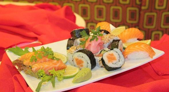 Sushi, uma das especialidades do Dolce Vita
