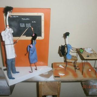 Arte com escova de dentes - Sala de aulas
