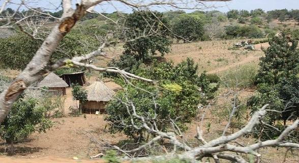 A população habita em cabanas forradas a barro cor ocre cobertas com telhados de makuti