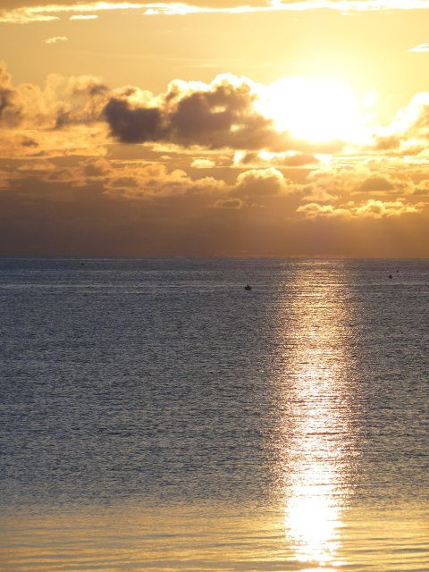 O pôr-do-sol na Ilha de Moçambique. Foto Marta Curto