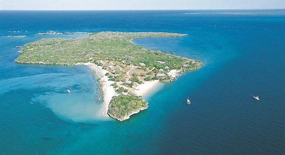 Vista aérea da ilha de Quilálea