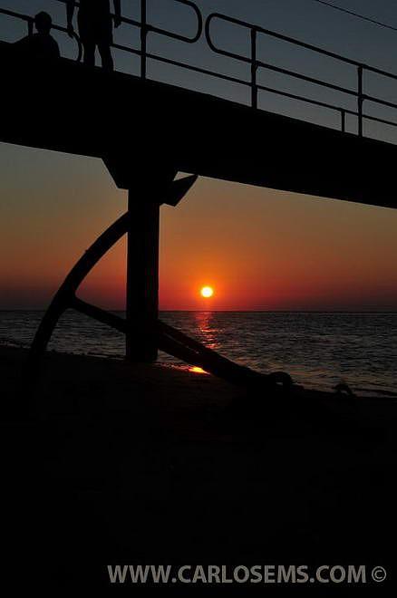 O pôr-do-sol na Ilha da Inhaca. Foto Carlo Martins